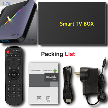 XGODY S905X3 A95X F3 Šviesos Smart Tv Box Amlogic Paramos PLEX RGB Android 9.0 4K Tv Set Top Box, 4GB Ram Dual Wifi BT4.2